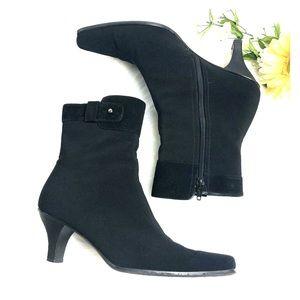 Stuart Weitzman Black Gortex Ankle Boots 7M